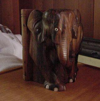 Elephant wood ivory