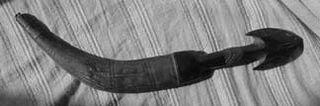 Moorish dagger black and white