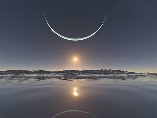 Sunset north pole jan 13 2011